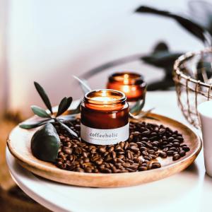 GREENWAY VEGAN SZÓJA GYERTYA SZÓJAGYERTYA VEGÁN COFFEEHOLIC AMBER