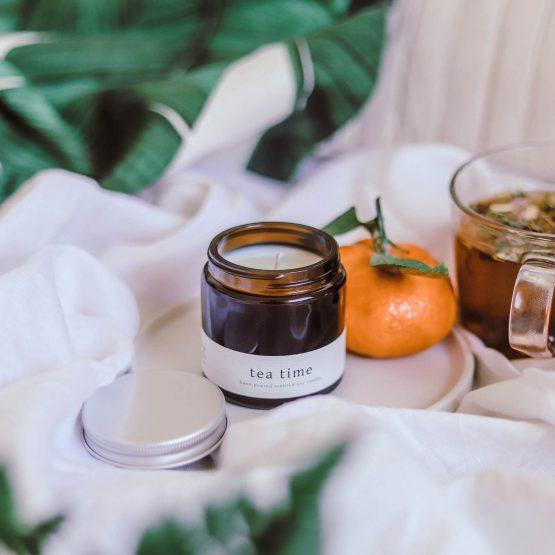 greenway szója gyertya szójagyertya vegan vegán tea time