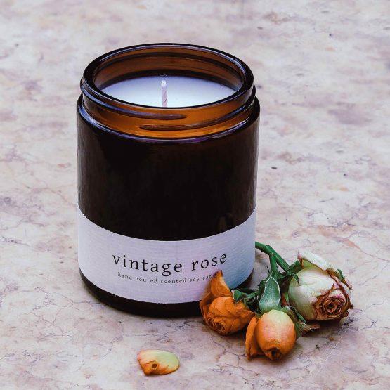 greenway szója gyertya szójagyertya vintage rose