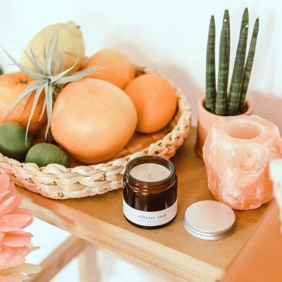 Greenway szója gyertya szójagyertya vegán vegan citurs sun citrom