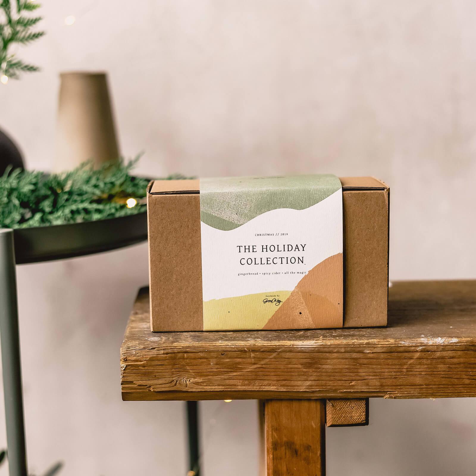 Szójagyertya ajándékdoboz hulladékmentes csomagolásban