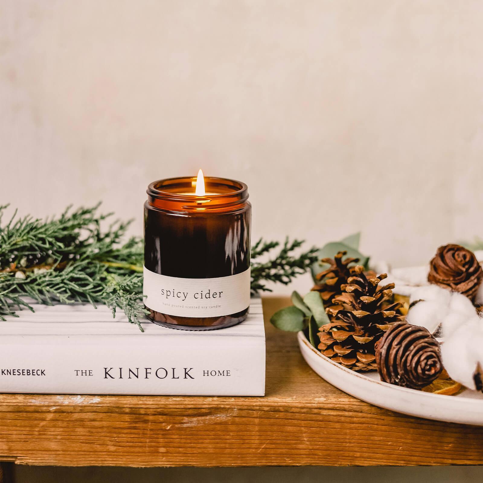 Karácsonyi ajándék illatos szójagyertya