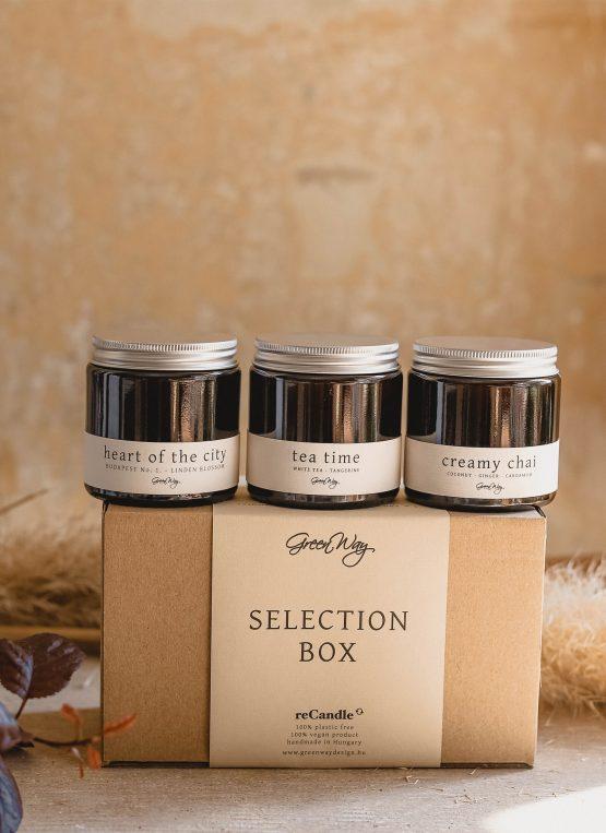 greenway szója gyertya selection box